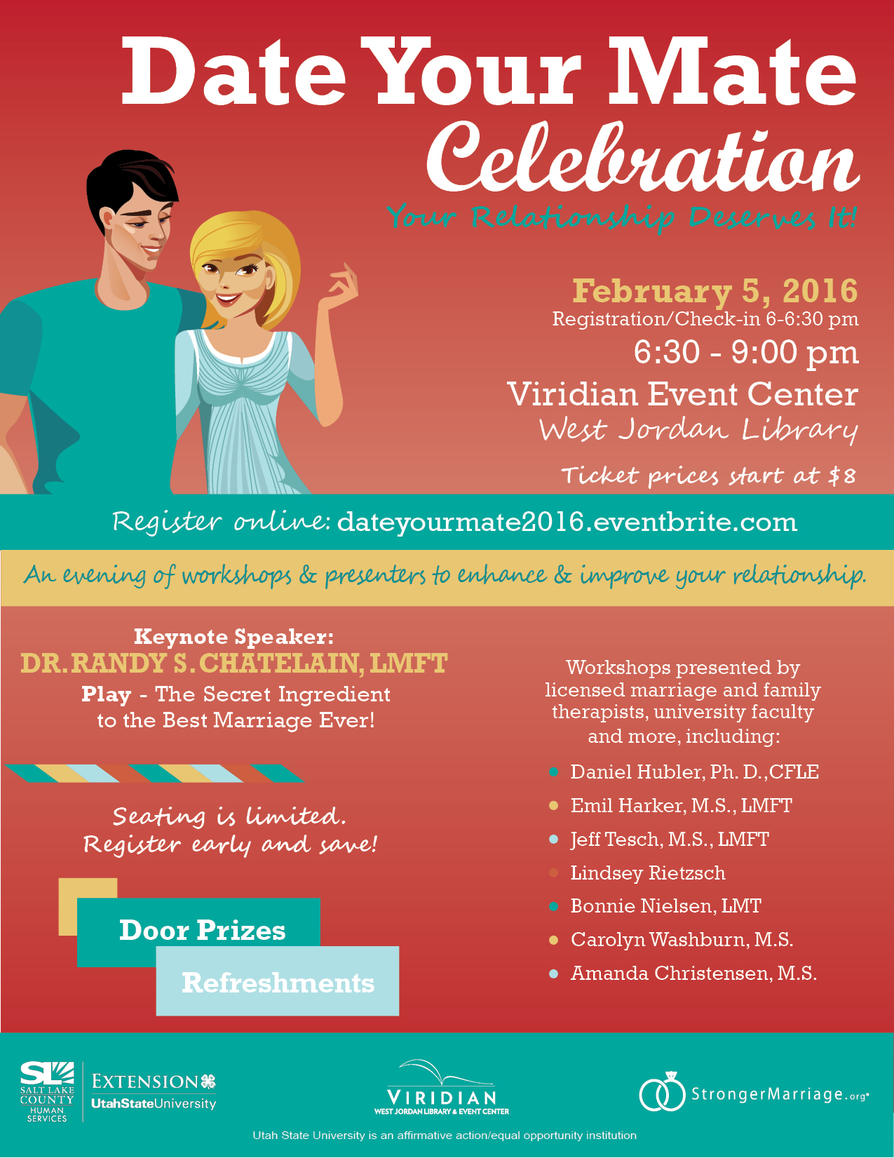 Date Your Mate Celebration 2016 flyer