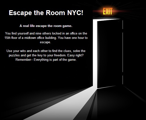 Escape the room nyc tickets sun mar 2 2014 at 10 00 pm for Escape room party