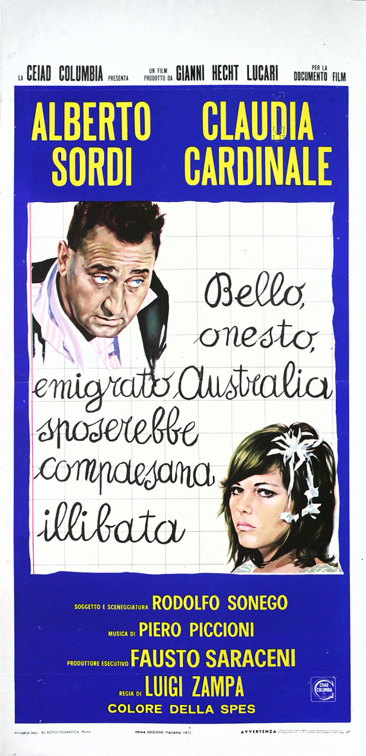 Italian daybill for A Girl in Australia (1971)