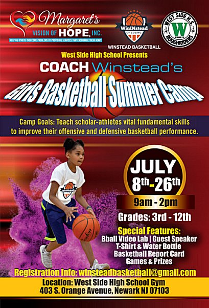 Coach Winstead's Girls Basketball Summer Camp Flyer