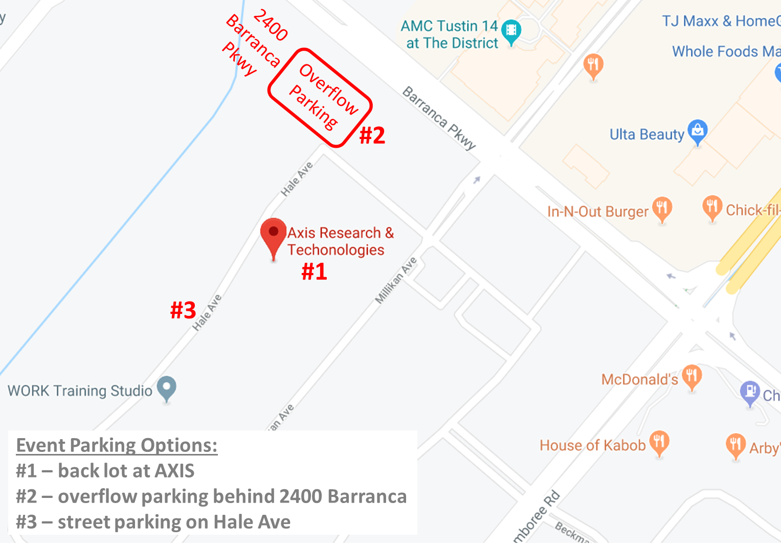 Axis Overflow Parking Map