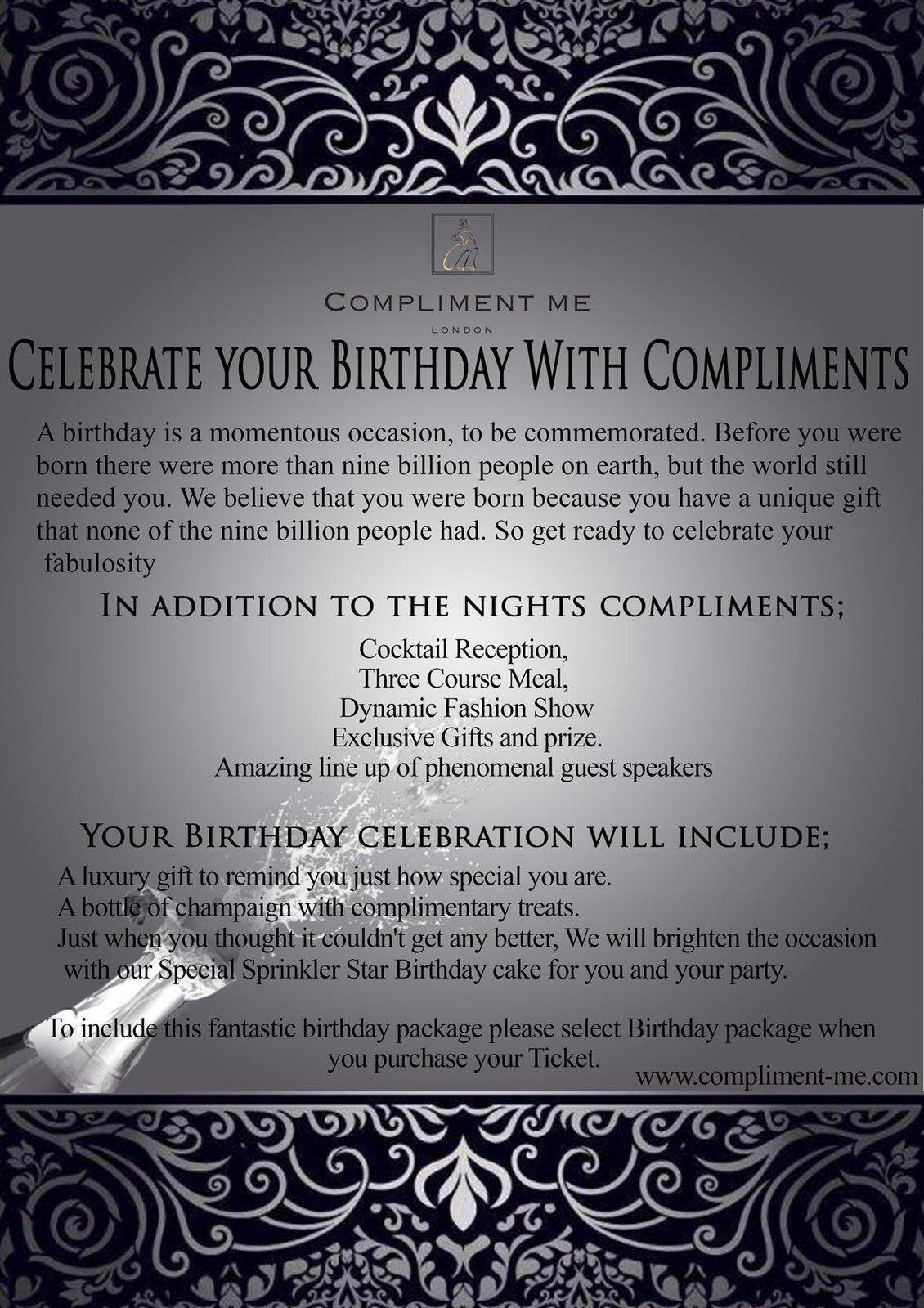 Compliment Me - Birthday Package