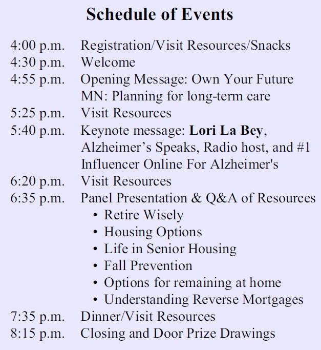 Schedule of Events Transfiguration Nov. 5 2015