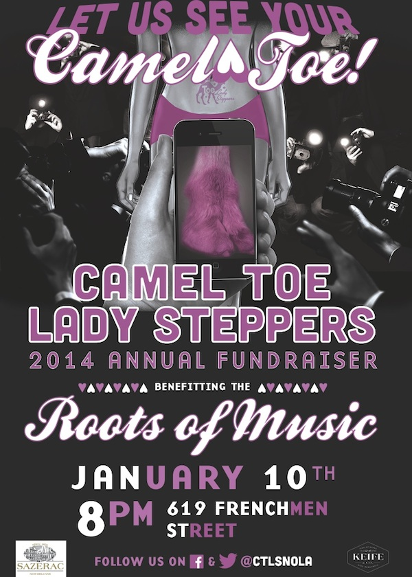 Camel Toe Lady Stepper 2014 Fundraiser Flyer