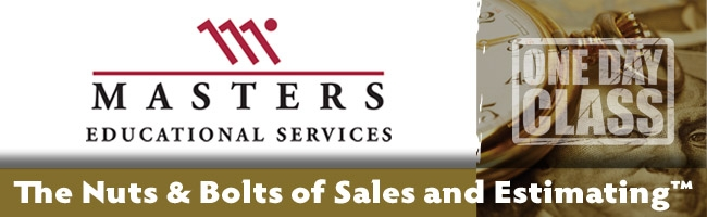 nuts and bolts of sales and estimating masters school