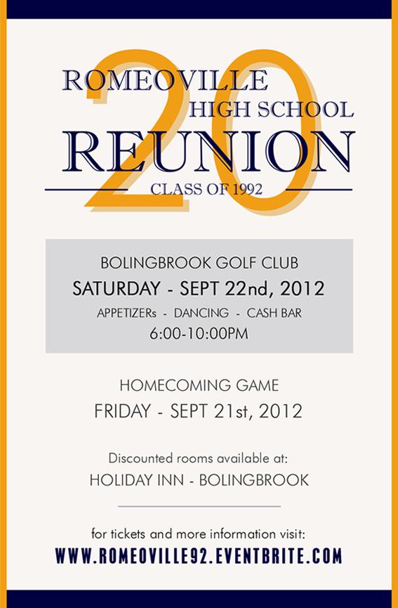 20 Year Reunion Romeoville High School Class Of 92