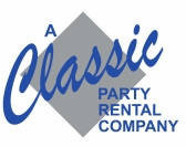 A Classic Party Rental Company logo