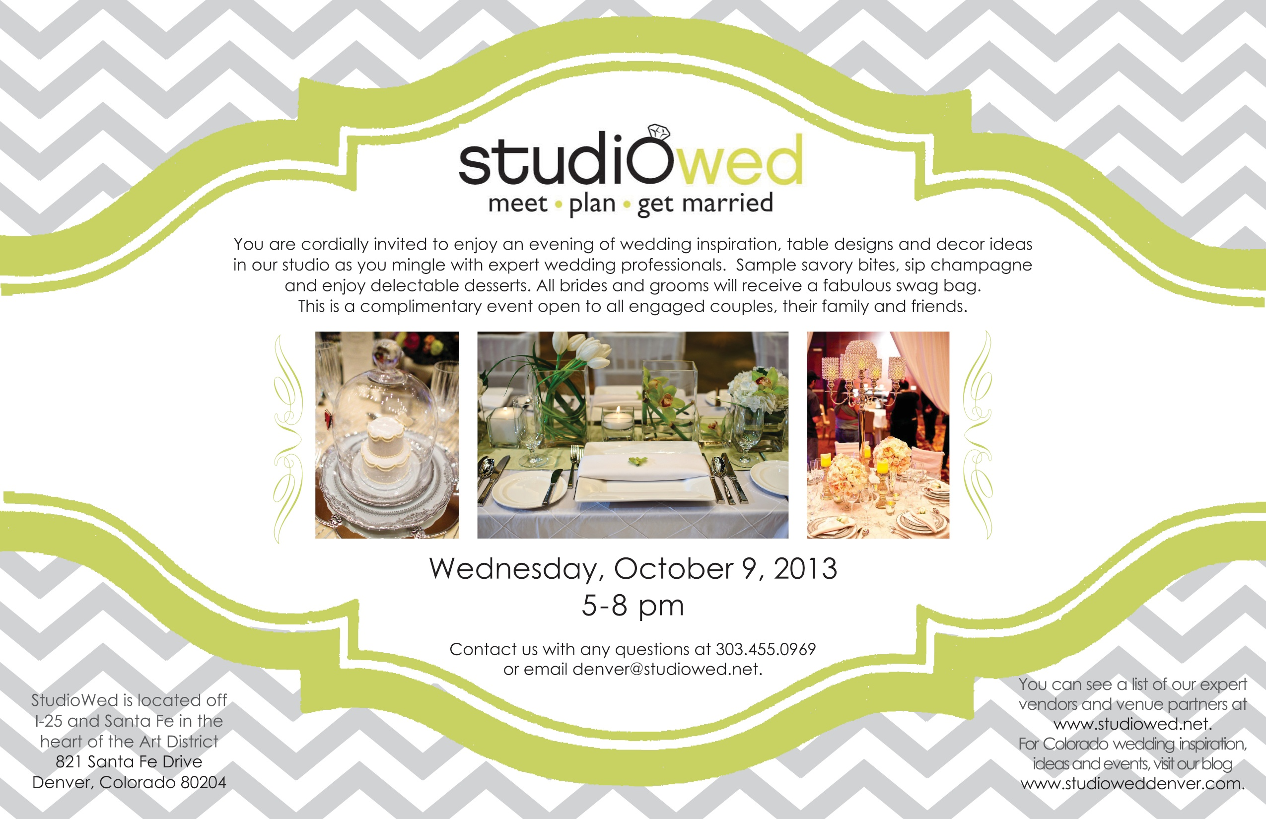 StudioWed Fall Showcase Invitation