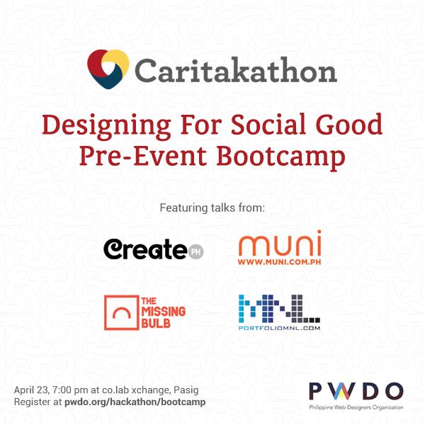 Caritakathon 2014 bootcamp banner
