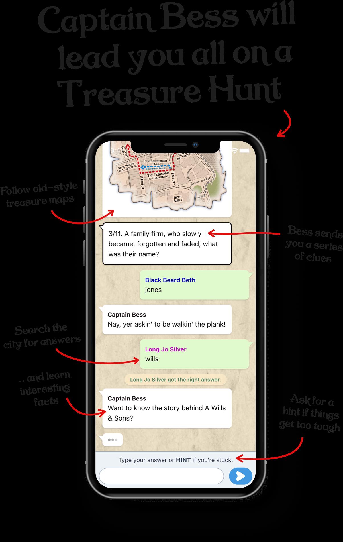 A screenshot of the whatsapp style game