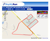 Moonlight 5K Course Map