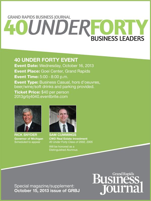 40 Under Forty event details