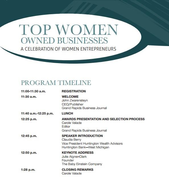 2013 TWOB event agenda