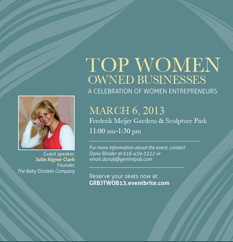 Grand Rapids Business Journal's Top Women Owned Businesses event, March 6, 2013