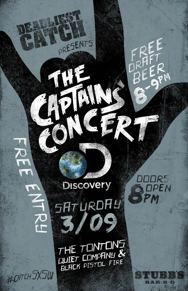 SXSW Captains Concert Poster
