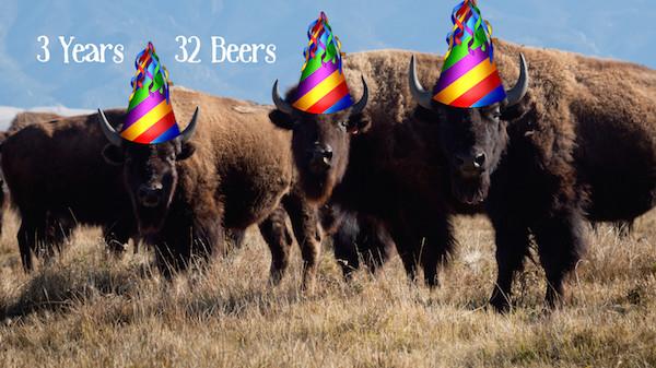 3 Years 32 Beers