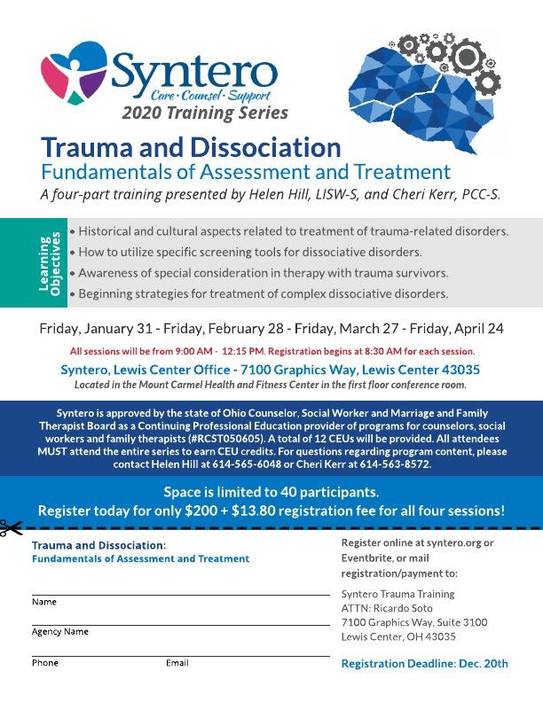 Trauma and Dissociation Flyer