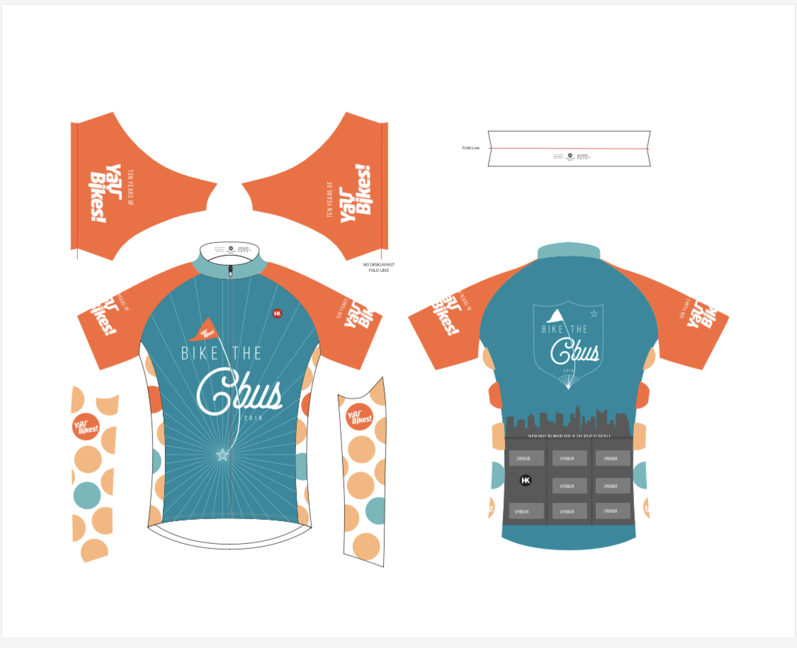 Bike the Cbus 2019 Jersey