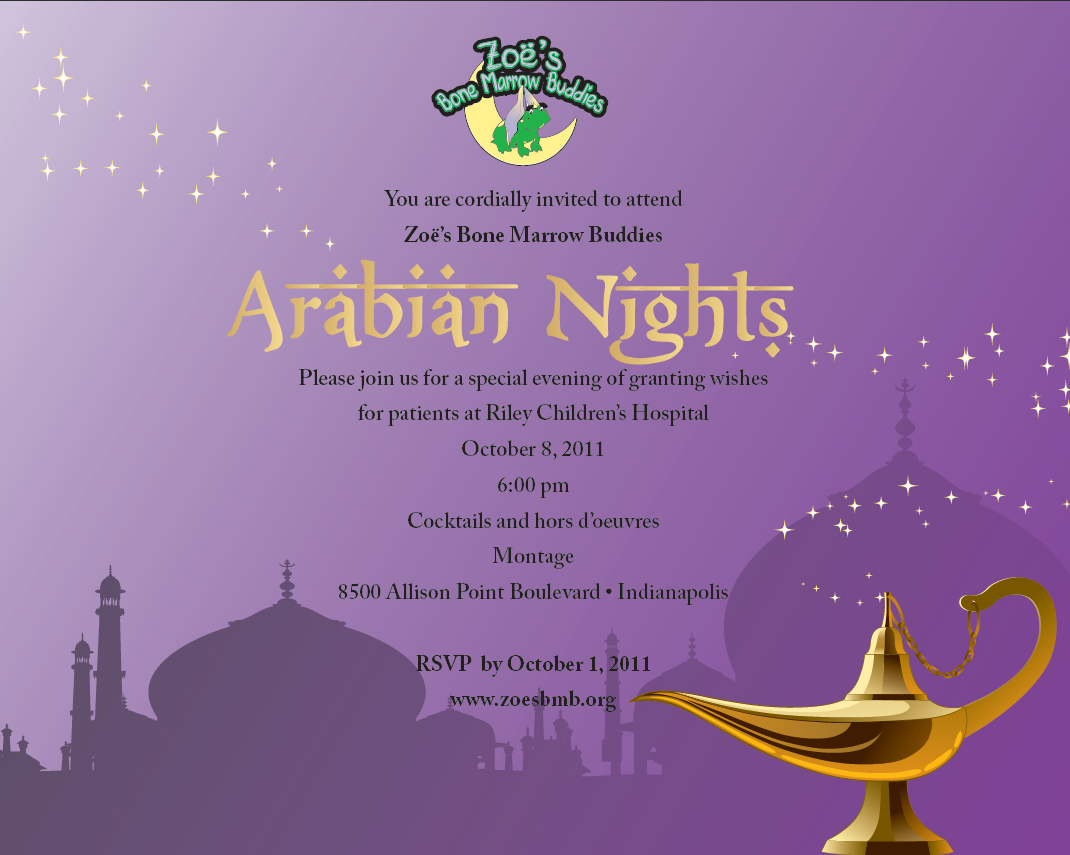 Arabian Nights Invitations Olivero