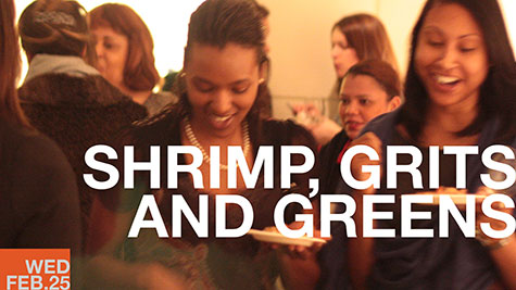 Shrimp, Grits and Greens