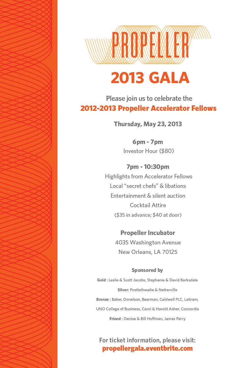 Propeller Gala Invite 2013