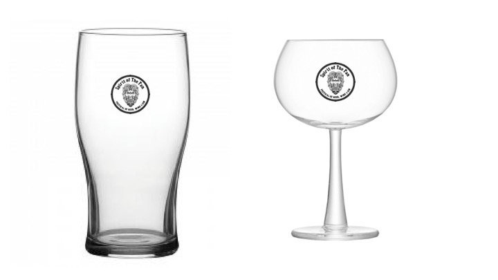 Branded beer and wine glasses