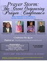Prayer Storm: The Great Outpouring Prayer Conference