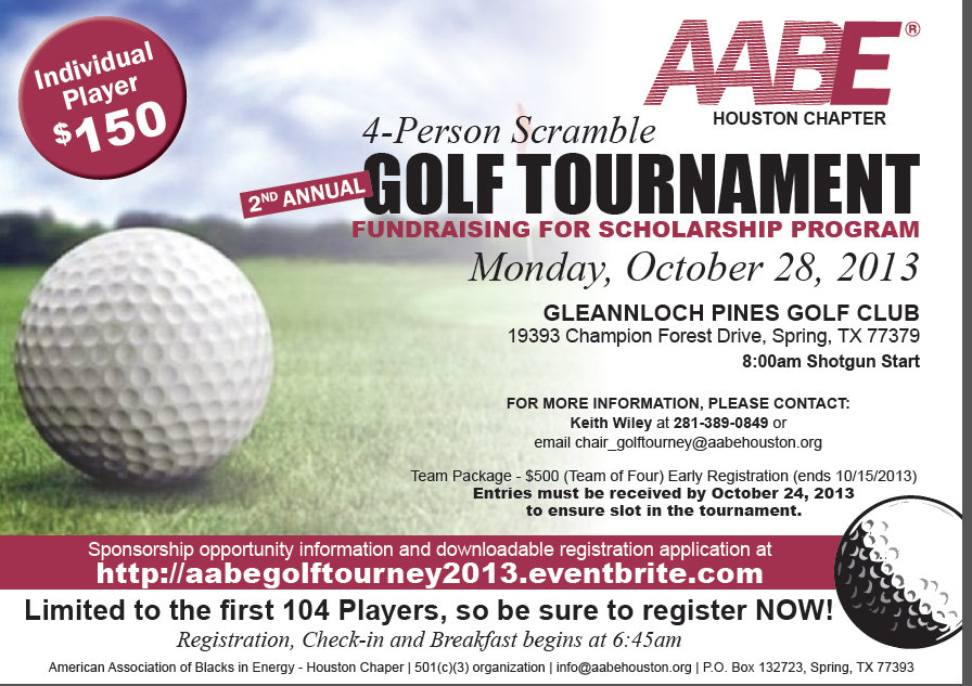 AABE HOUSTON 2ND ANNUAL GOLF CHARITY CLASSIC