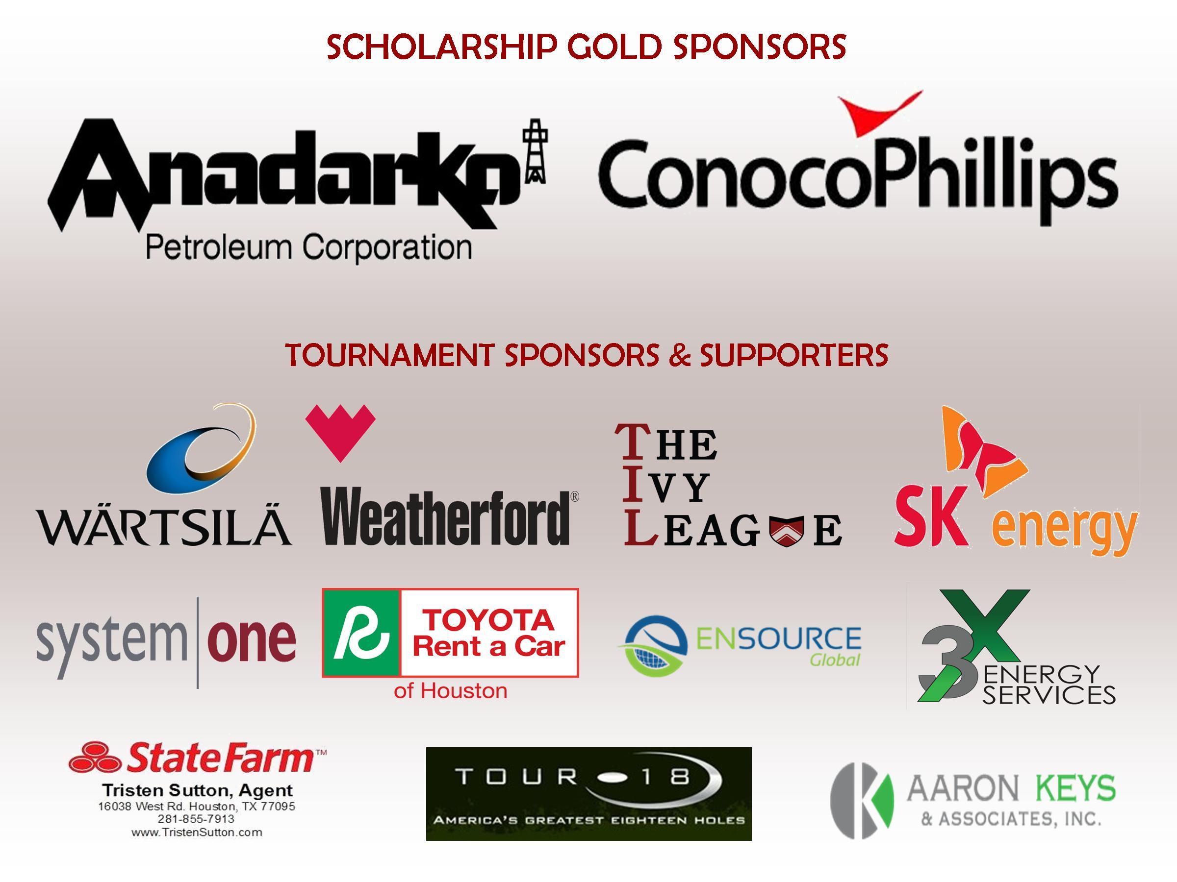 AABE Houston 2014 Golf Tourney Sponsors