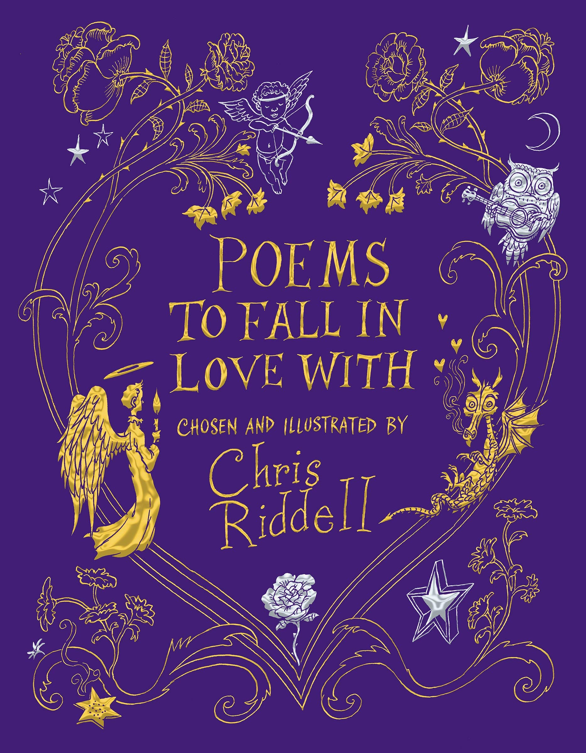 Jacket image for Chris Riddell's anthology of poetry 'Poems to Fall in Love With'
