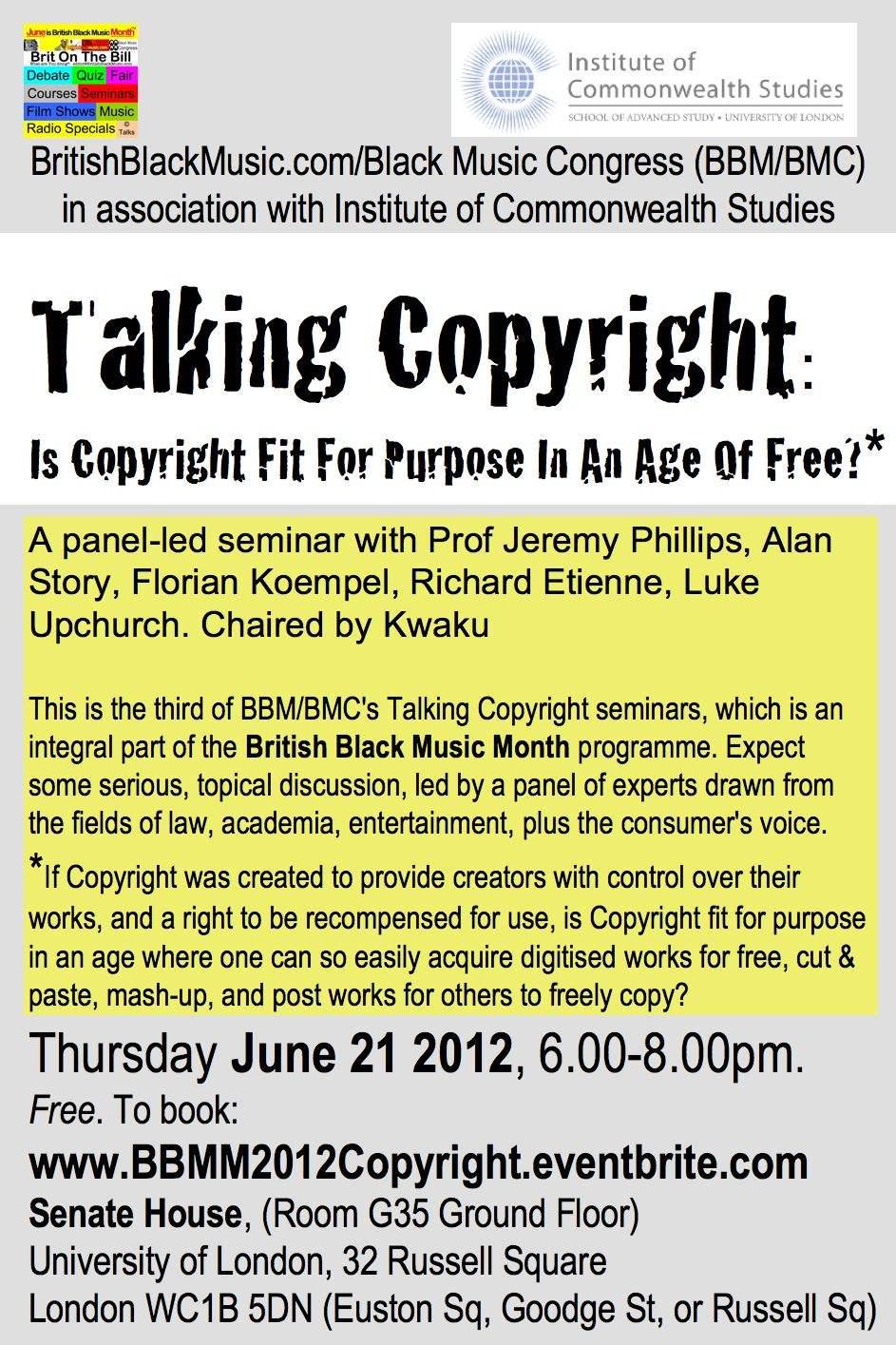 BBMM2012 Copyright flyer