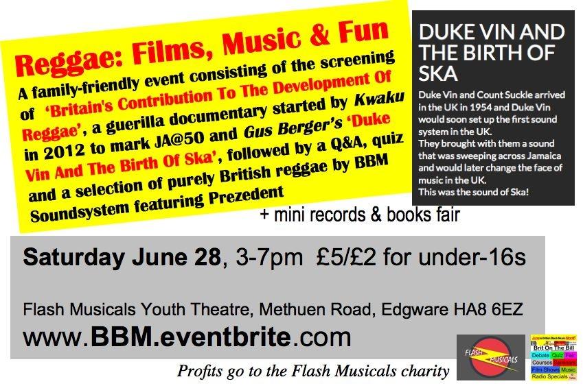 BBMM2014 reggae films music and fun