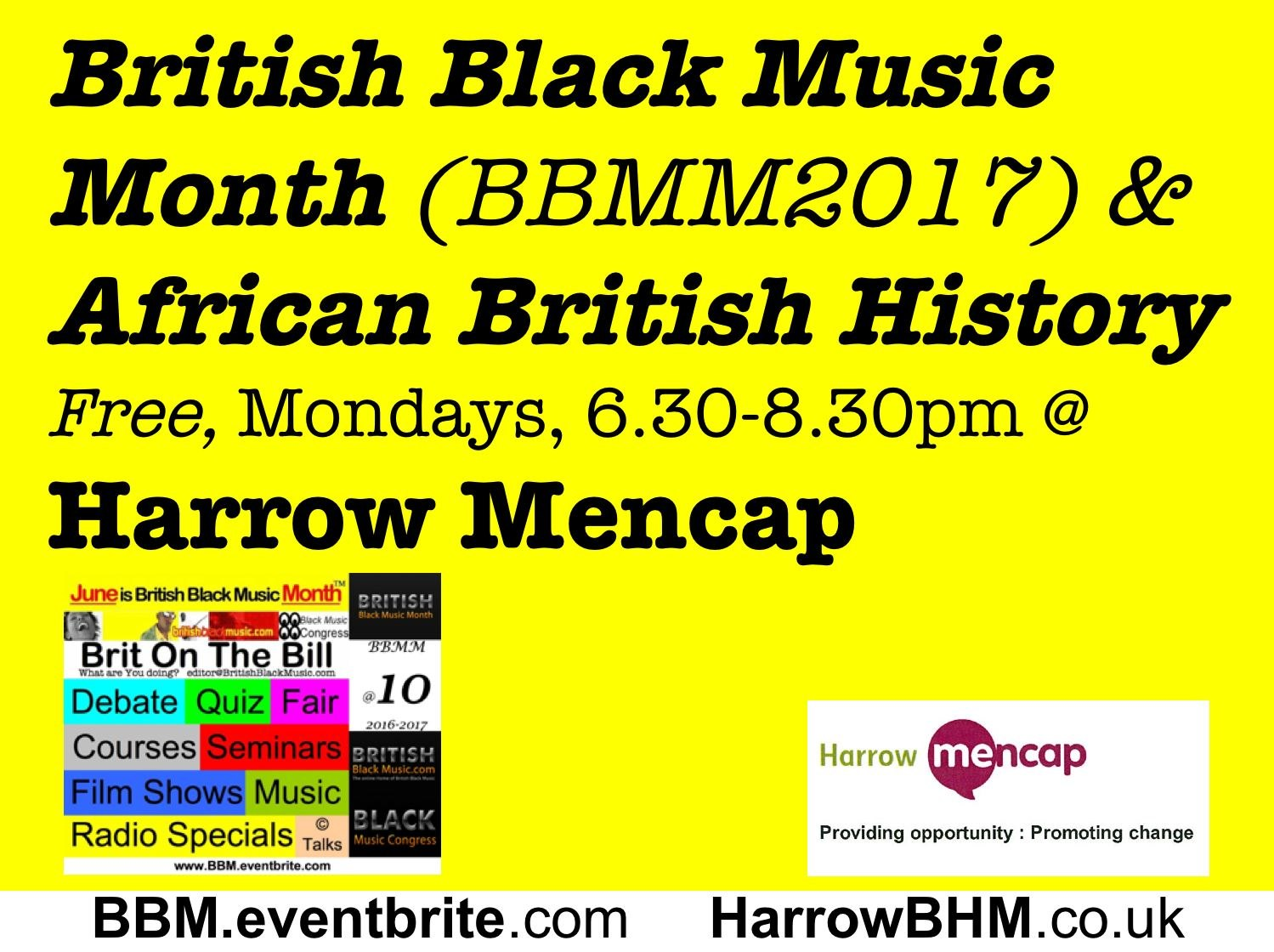 BBMM2017 at Harrow