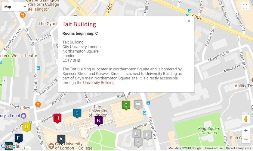 city uni taitt building