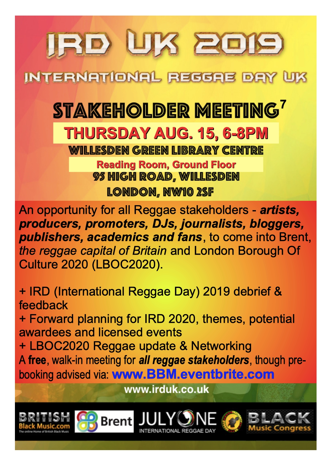 IRD STAKEHOLDER MEETING AUG 2019