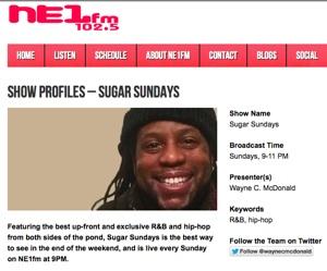 Wayne C McDonald Sugar Sundays