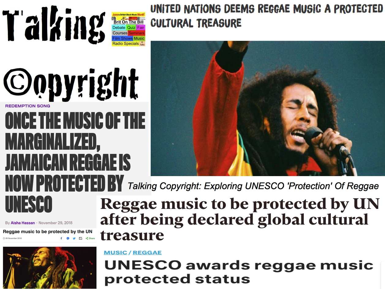 Talking Copyright UNESCO Reggae Protection