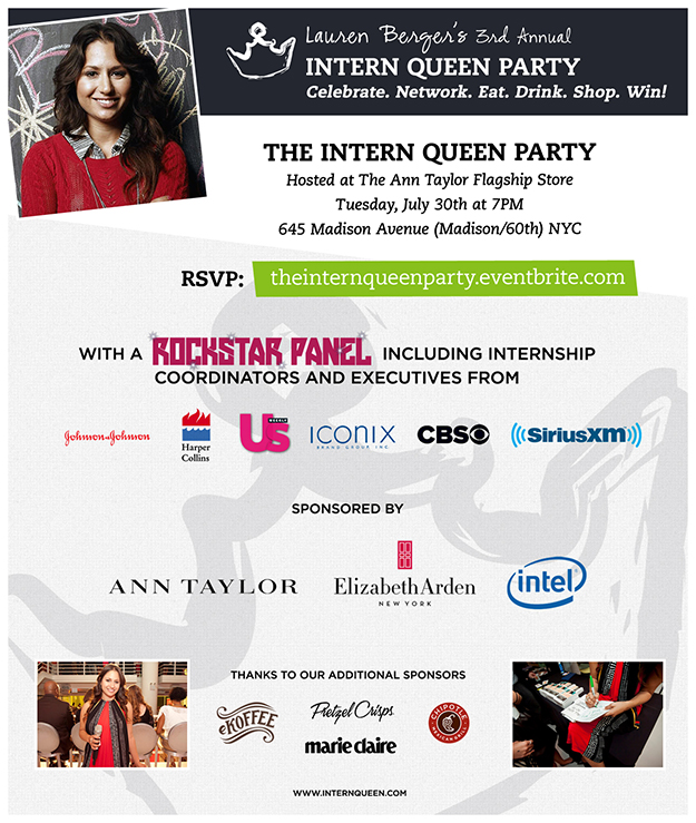 The Intern Queen Party Invitation