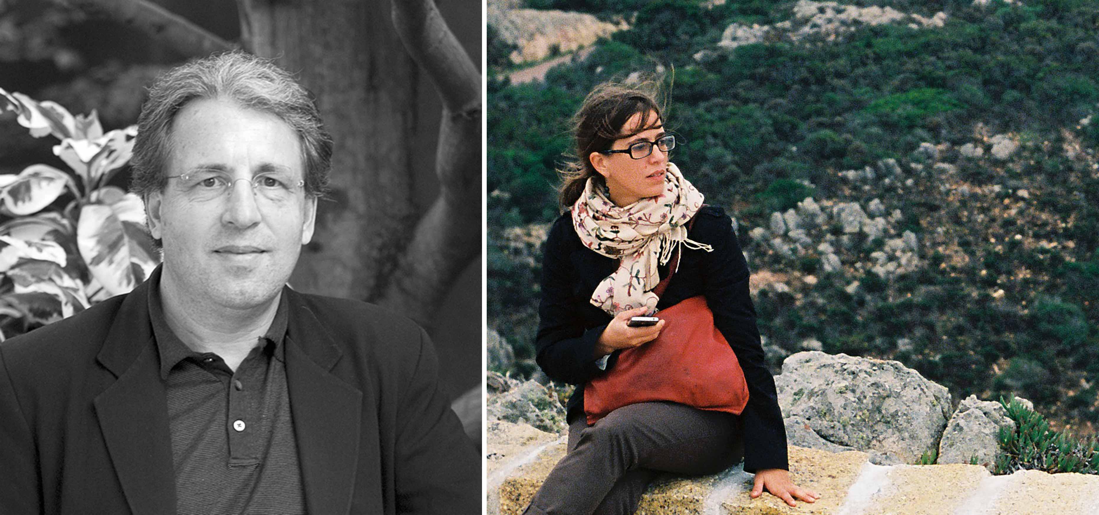 Collaged profile photos of David Leatherbarrow and Francesca Torzo
