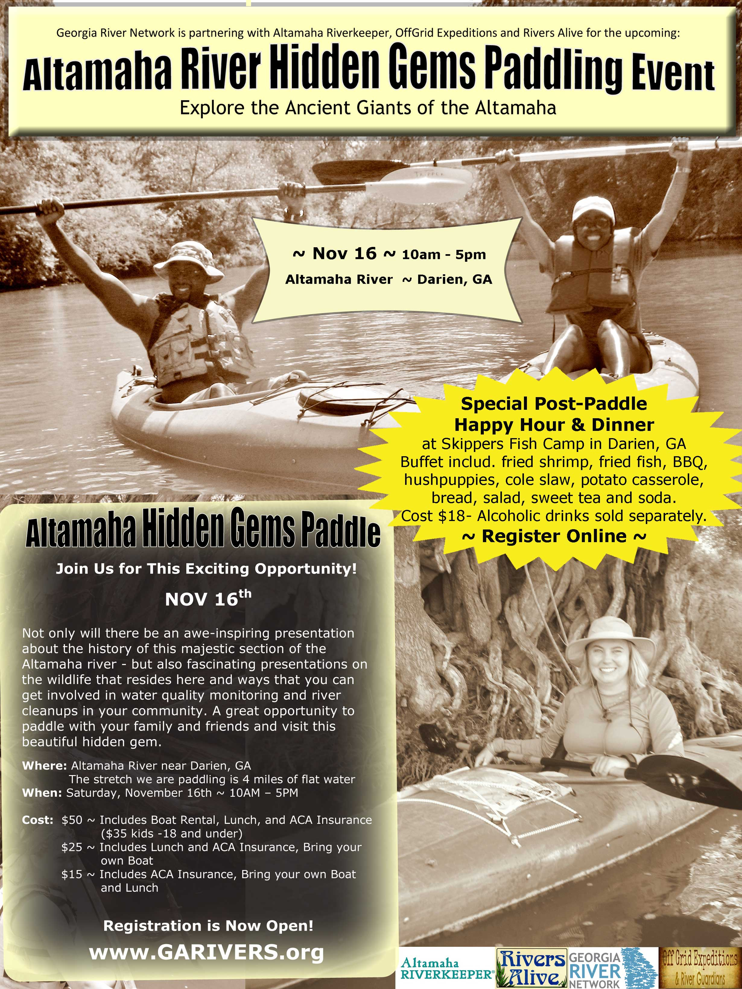 Altamaha Unveiling Paddle: Ancient Giants of the Altamaha