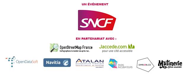 Partenaires : OpenStreetMap France, Jaccede.com, OpenDataSoft, Navitia, Atalan, Paris Incubateurs, Simplon.co, Mutinerie