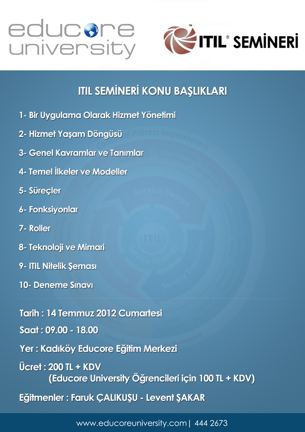 ITIL Seminer