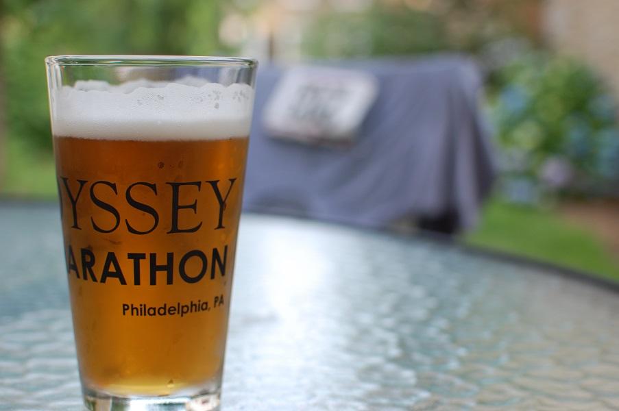 ODDyssey Half Marathon Beer Glass