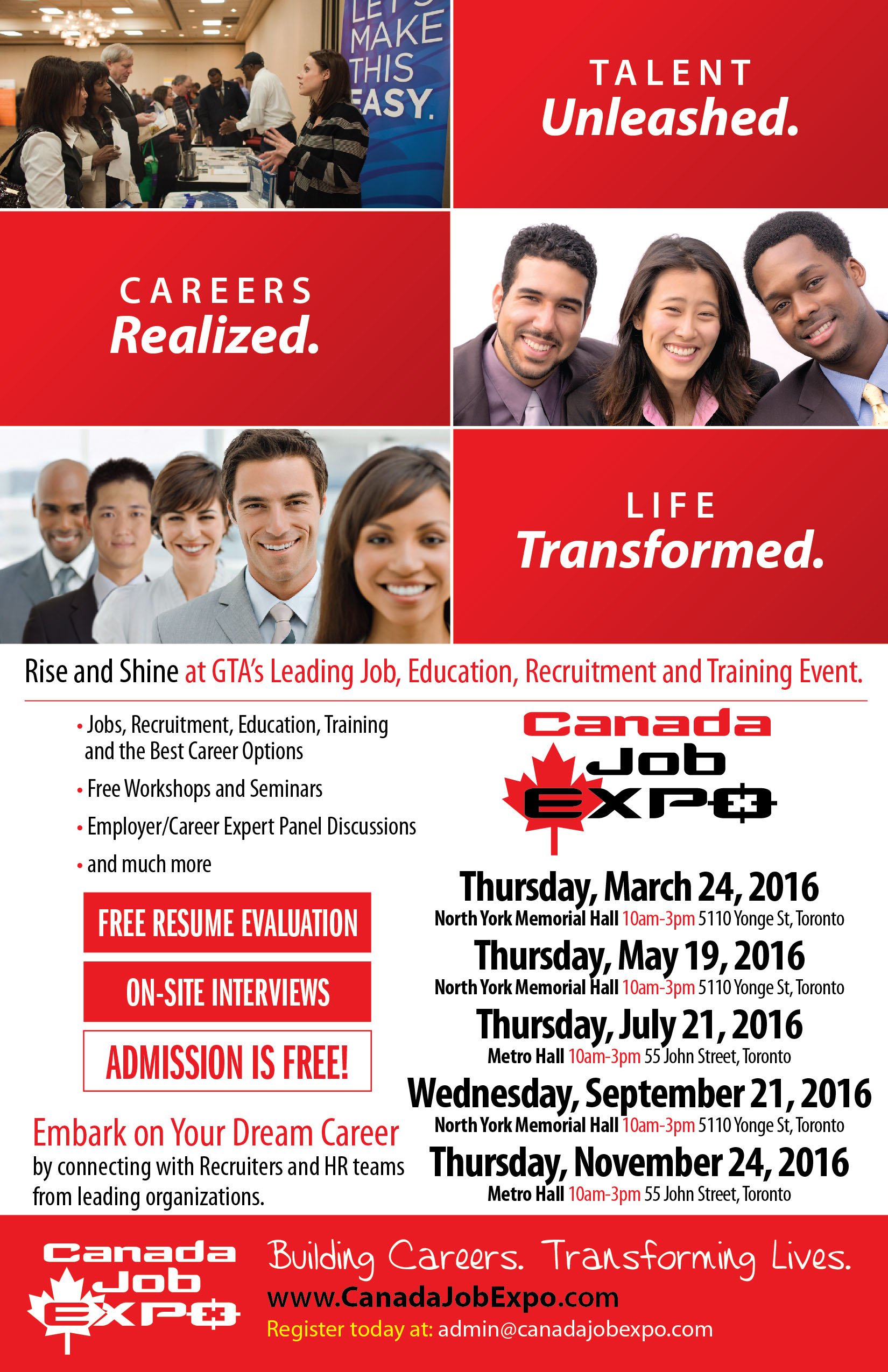Canada Job Expo 2016 Events