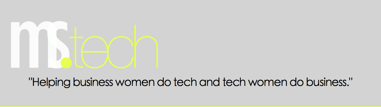 MsTech: Helping business women do tech and tech women do business.