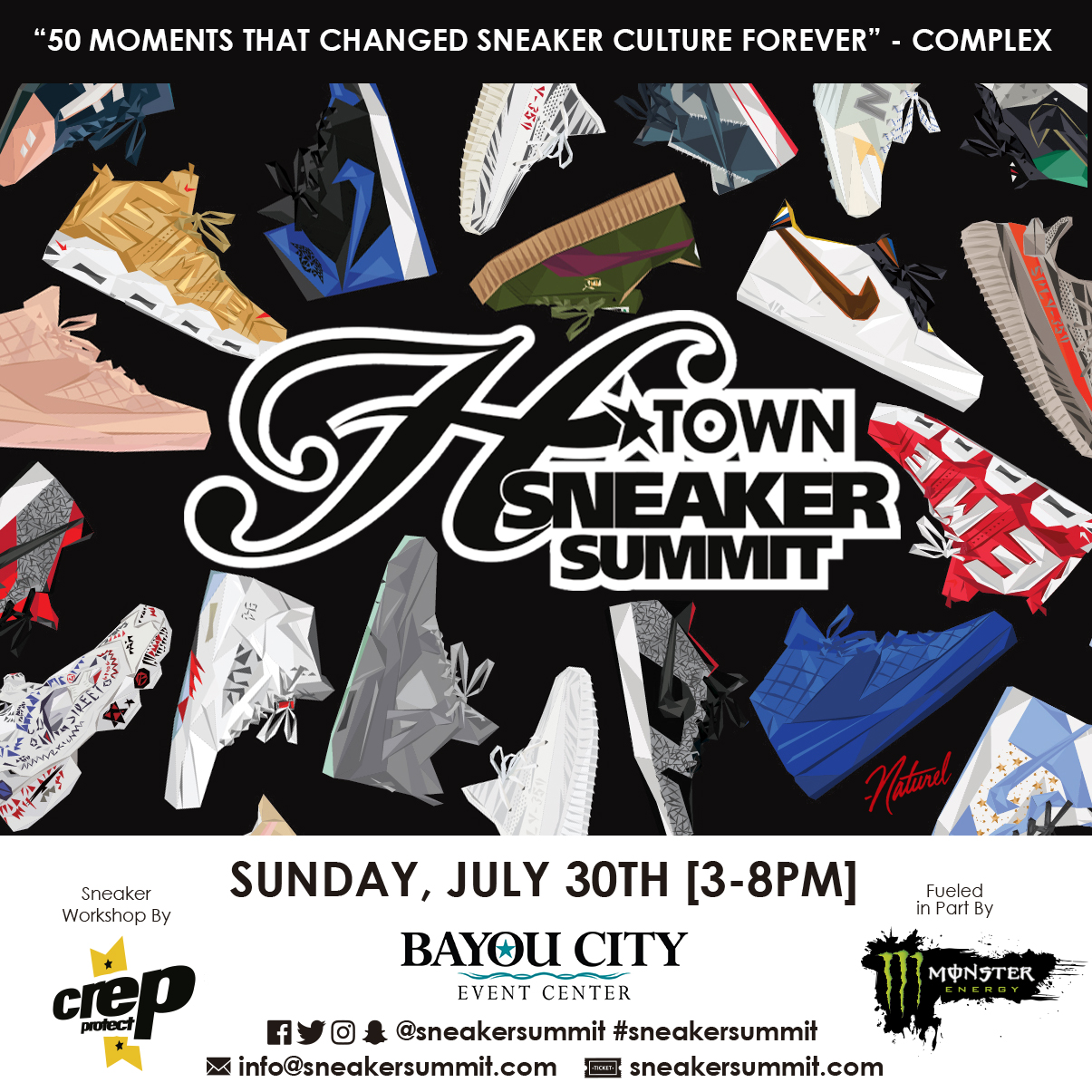 H-Town Sneaker Summit Summer 17 at Bayou City Event Center on Sunday, July 30, 2017 3-8PM