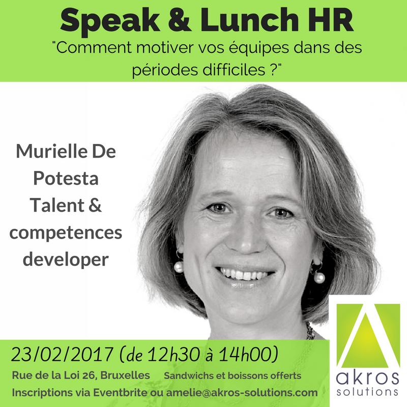 Murielle de Potesta - Speak & Lunch