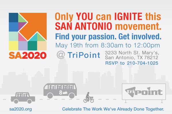 Only YOU can IGNITE this San Antonio movement. Find your passion. Get involved.