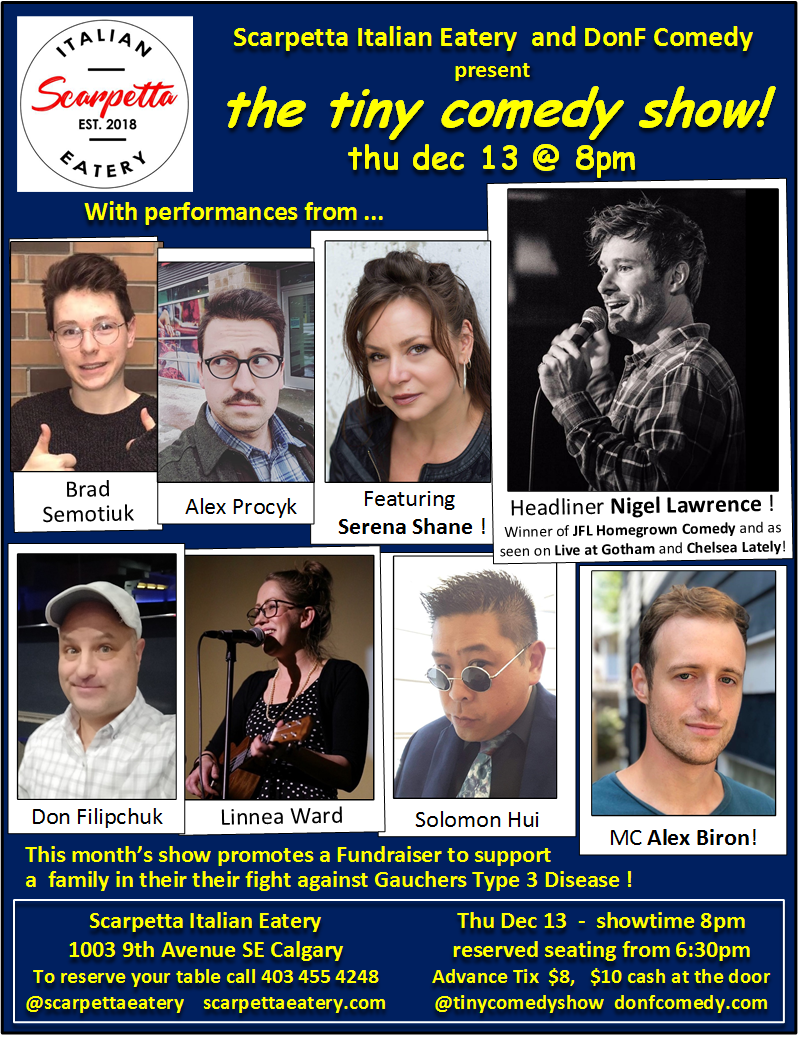 tiny comedy show thu dec 13