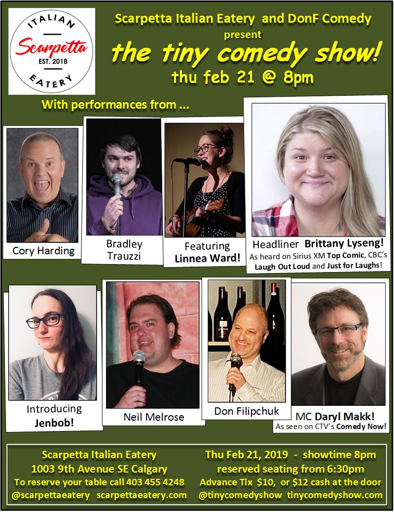 tiny comedy show - feb 21 2019